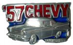 57 CHEVY' Chevrolet Belt Buckle + display stand